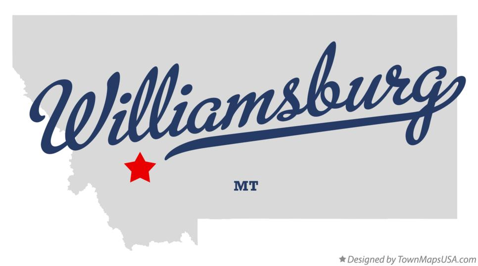 Map of Williamsburg Montana MT