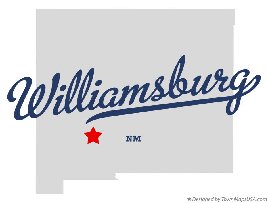 Map of Williamsburg New Mexico NM