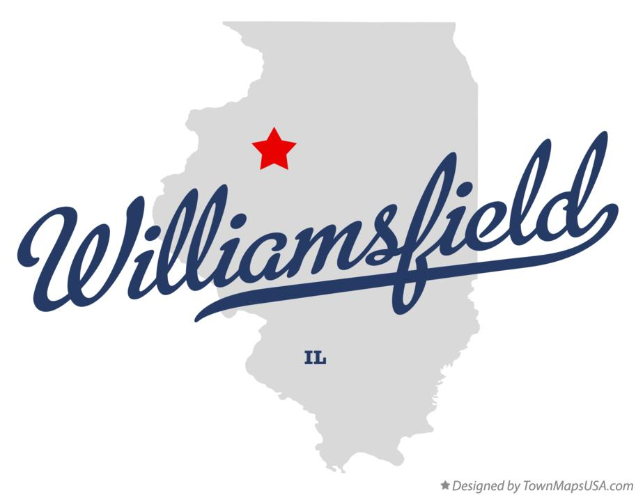 Map of Williamsfield Illinois IL