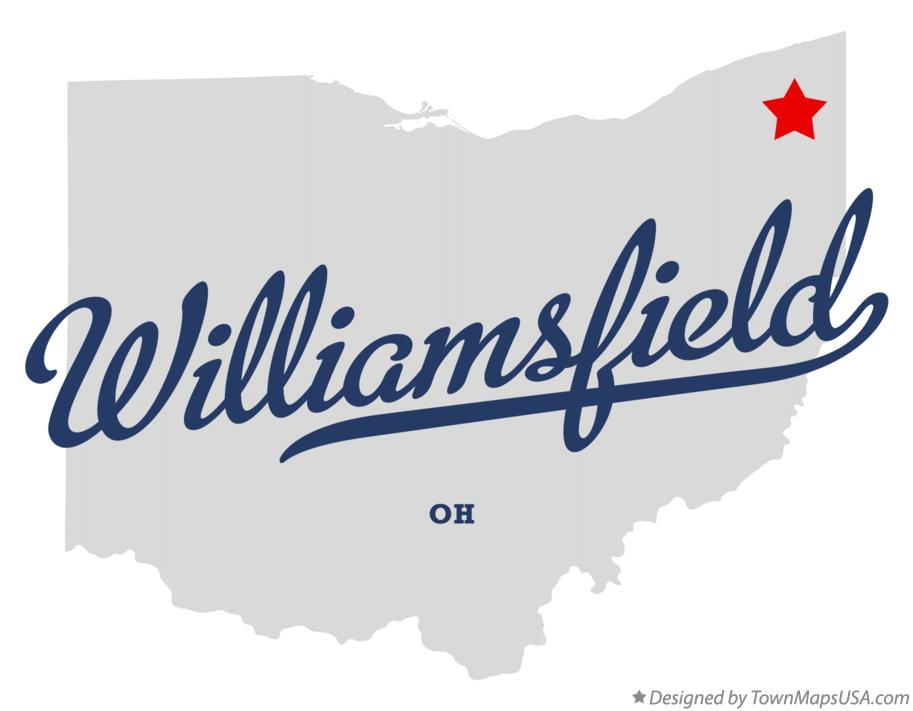Map of Williamsfield Ohio OH