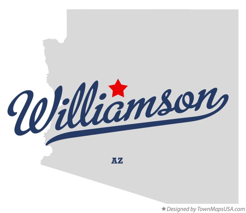 Map of Williamson Arizona AZ