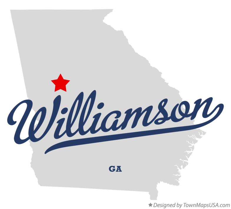 Map of Williamson Georgia GA