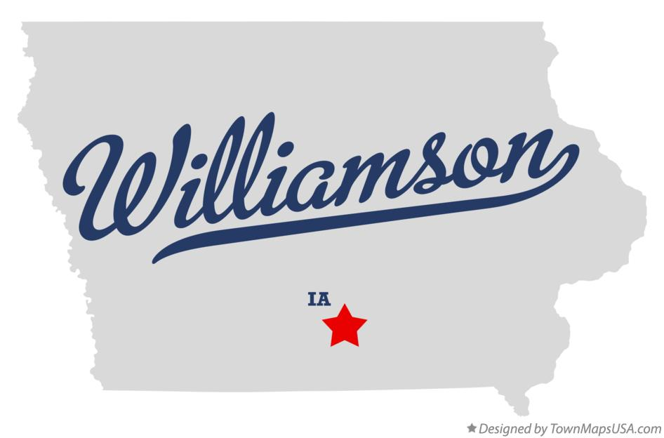 Map of Williamson Iowa IA