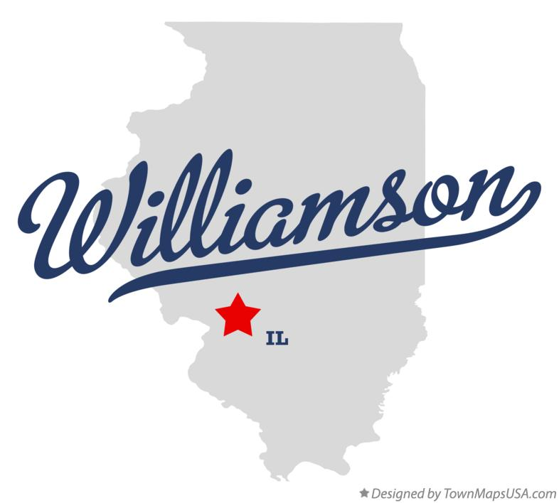 Map of Williamson Illinois IL