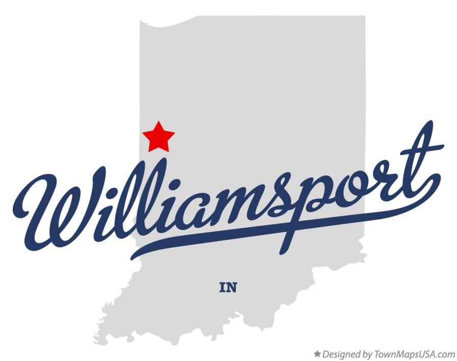 Map of Williamsport Indiana IN