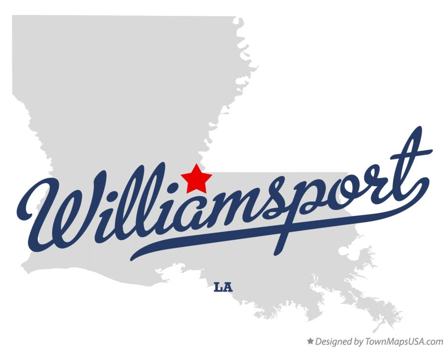 Map of Williamsport Louisiana LA