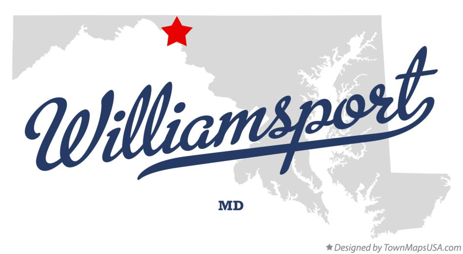 Map of Williamsport Maryland MD
