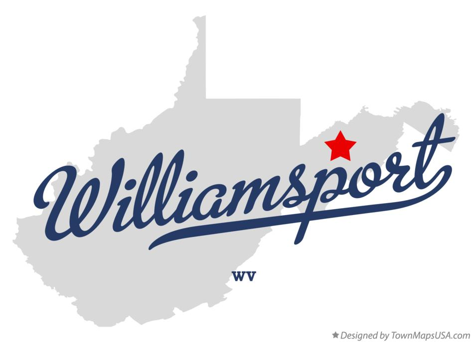 Map of Williamsport West Virginia WV