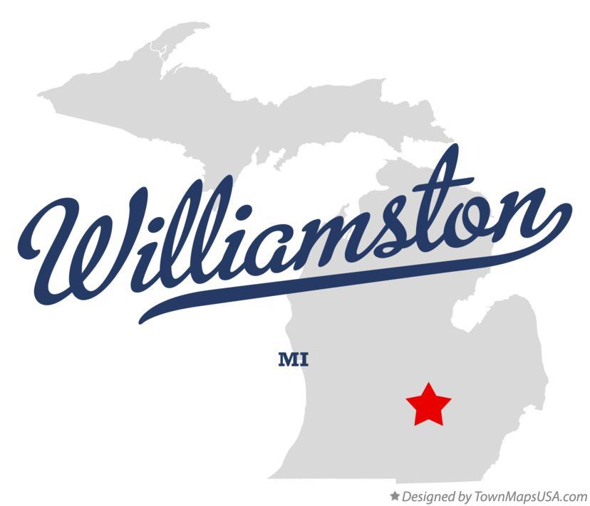 Map Of Williamston Mi Michigan