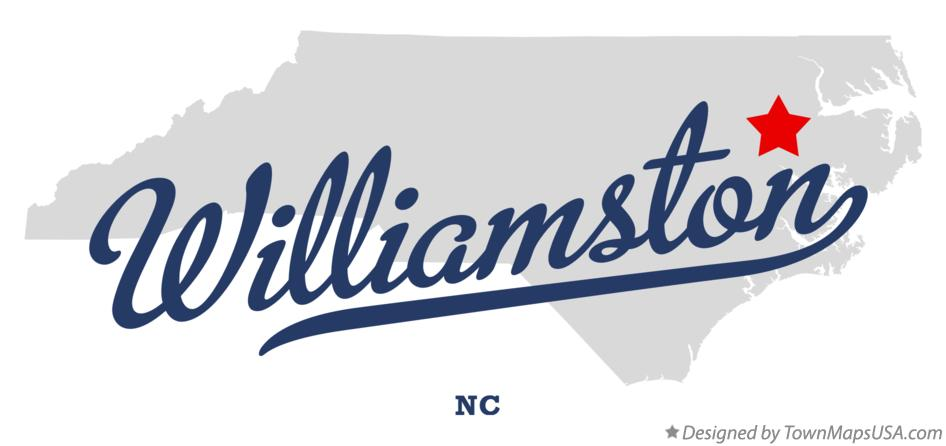 Map of Williamston North Carolina NC