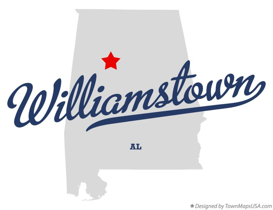 Map of Williamstown Alabama AL