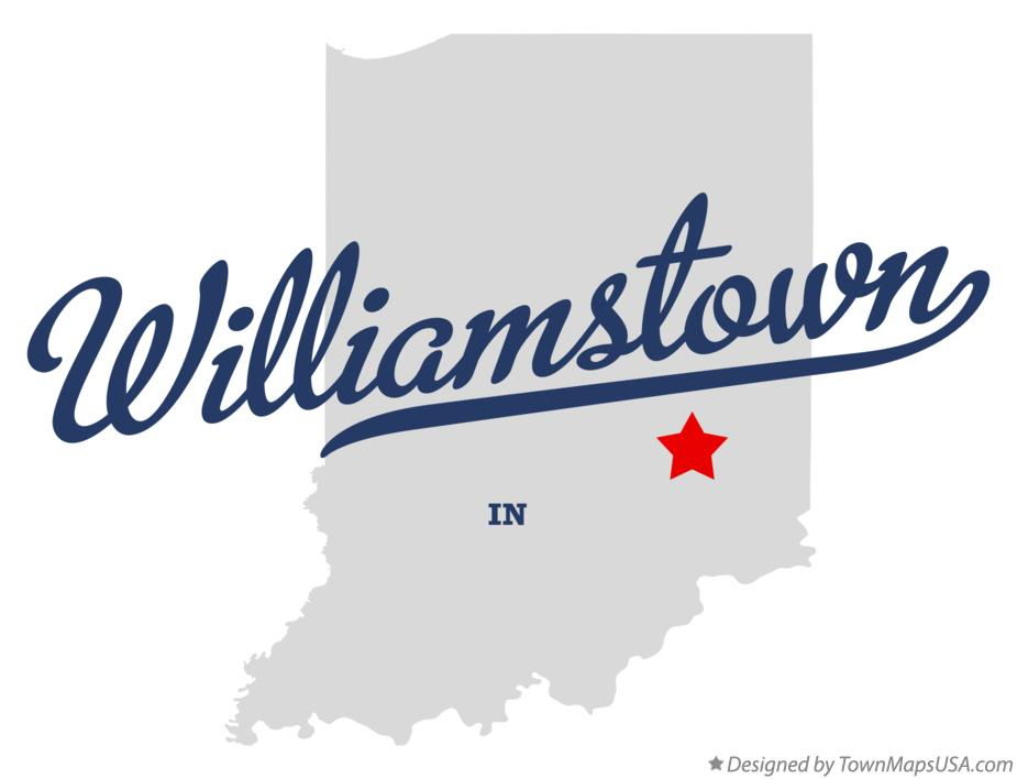 Map of Williamstown Indiana IN