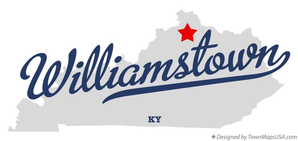 Map of Williamstown Kentucky KY