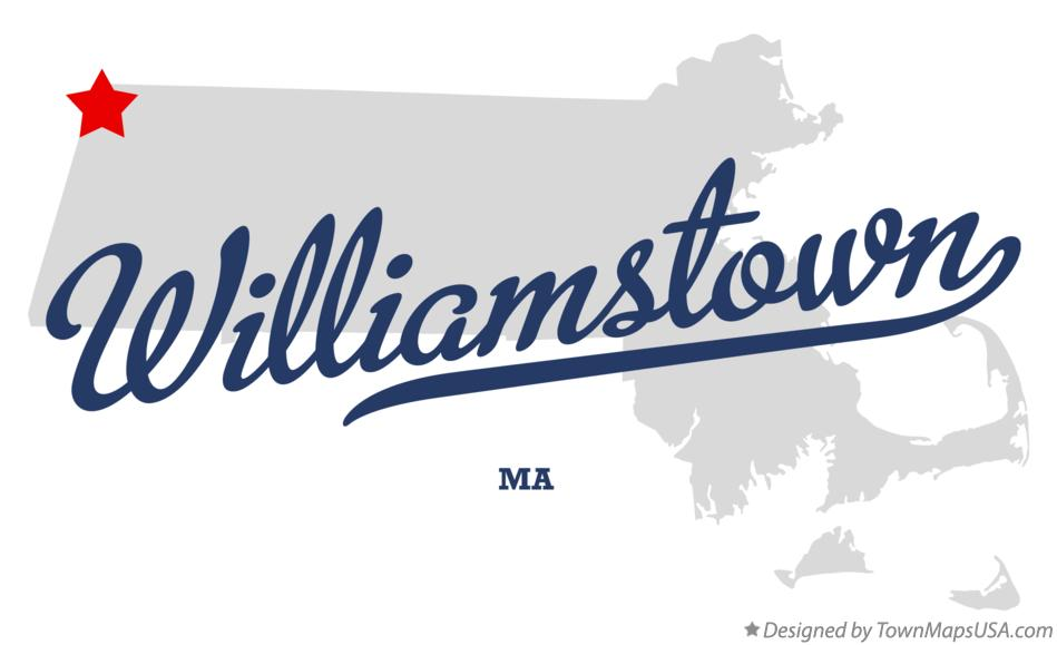 Map of Williamstown Massachusetts MA