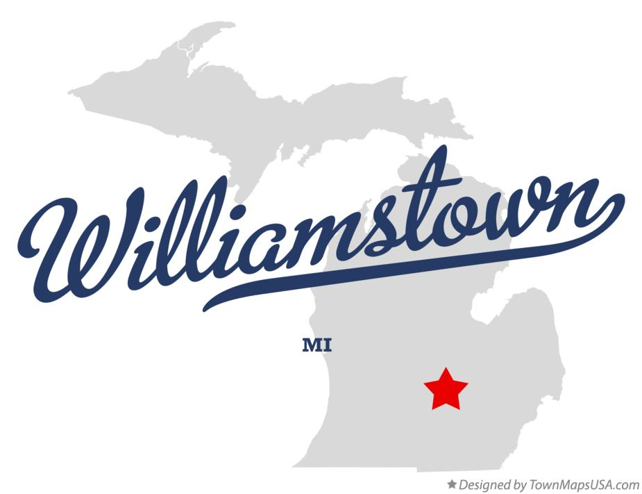 Map of Williamstown Michigan MI
