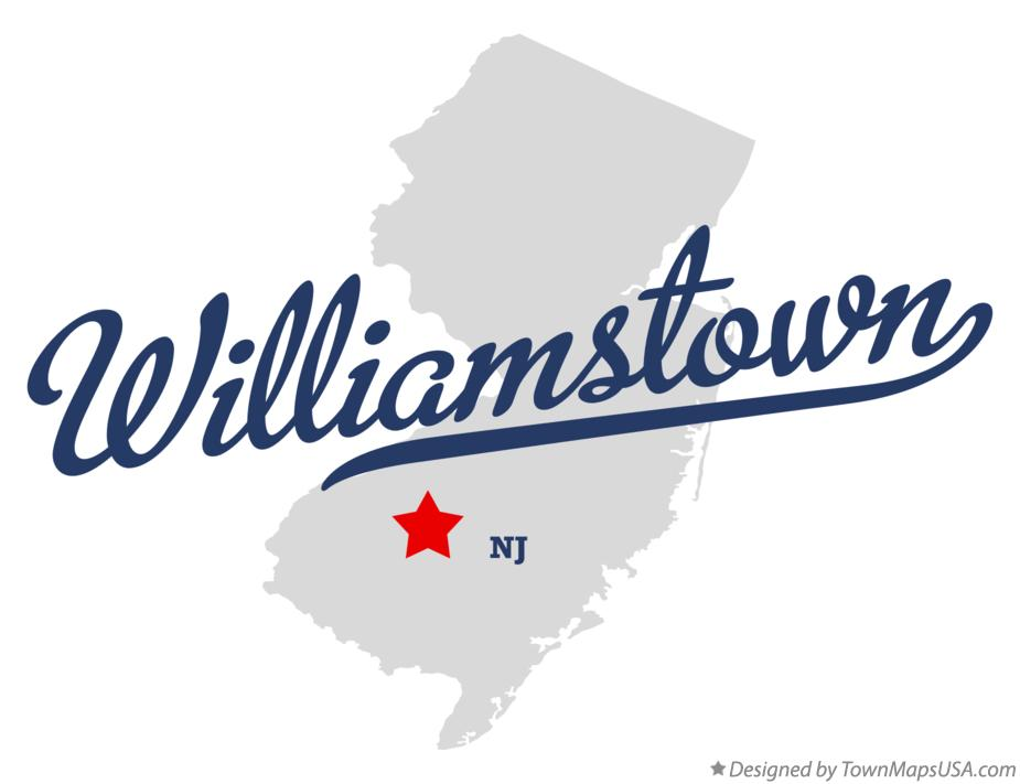 Map of Williamstown New Jersey NJ