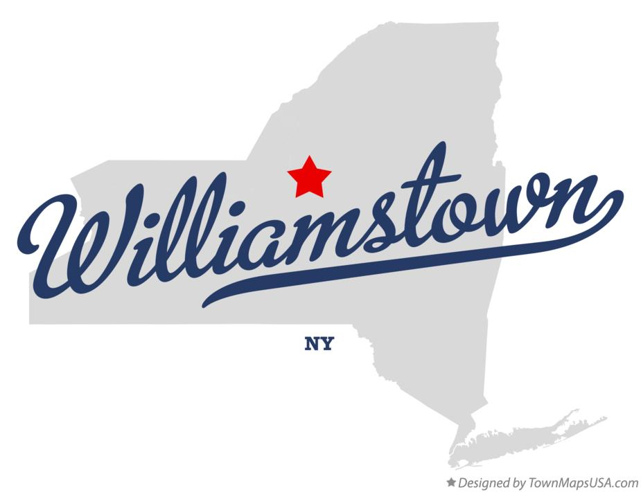 Map of Williamstown New York NY