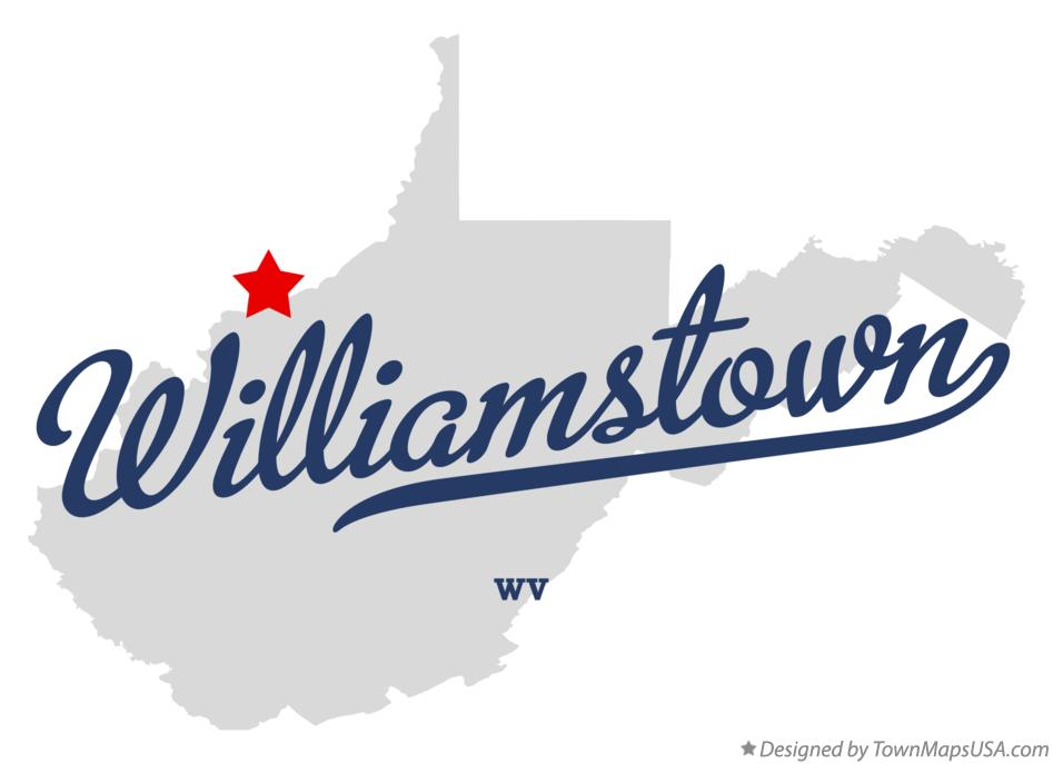 Map of Williamstown West Virginia WV