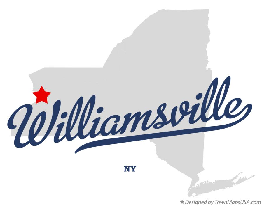 Map of Williamsville New York NY