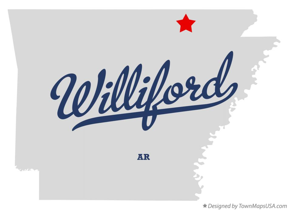 Map of Williford Arkansas AR
