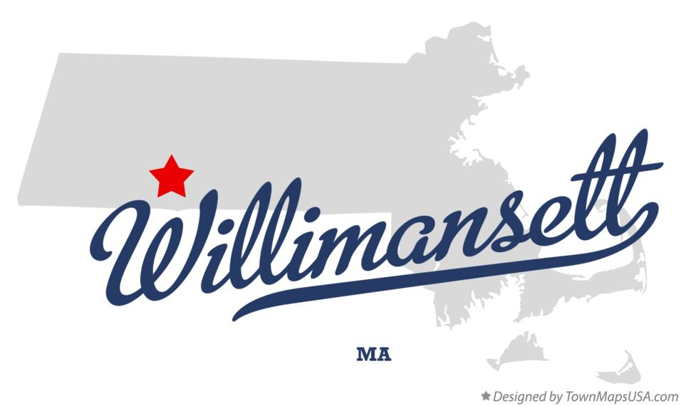 Map of Willimansett Massachusetts MA