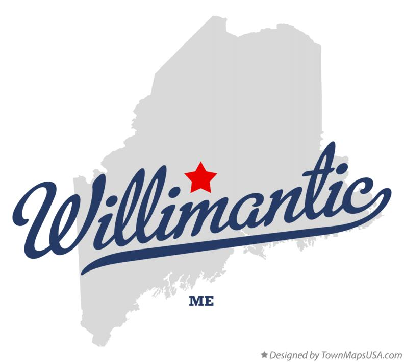Map of Willimantic Maine ME
