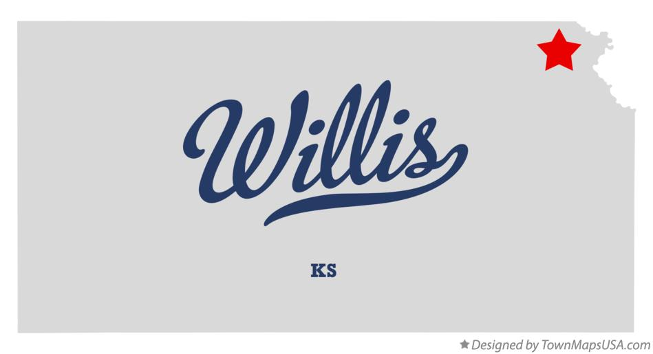 Map of Willis Kansas KS