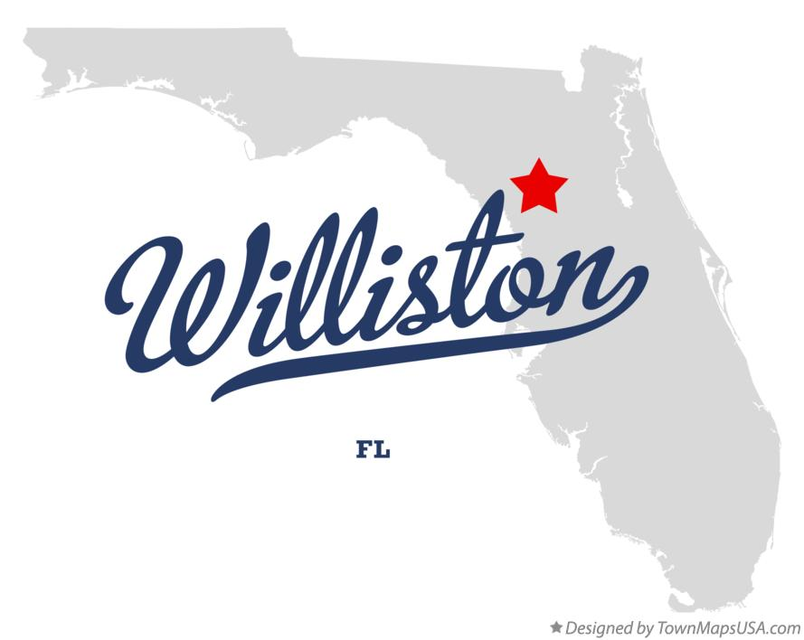 Map of Williston FL Florida