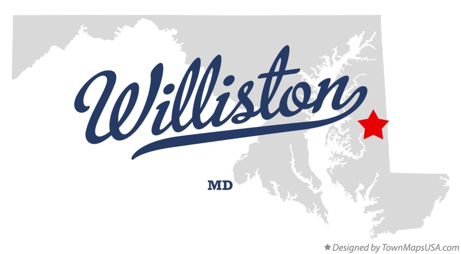 Map of Williston Maryland MD