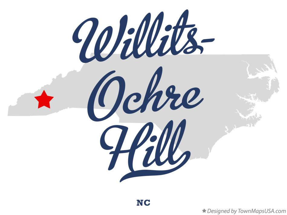 Map of Willits-Ochre Hill North Carolina NC