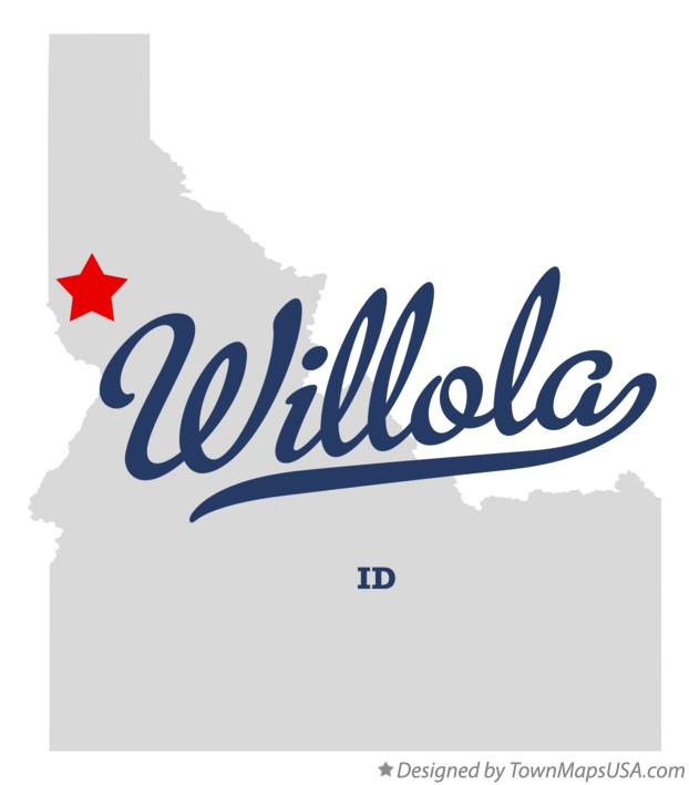 Map of Willola Idaho ID