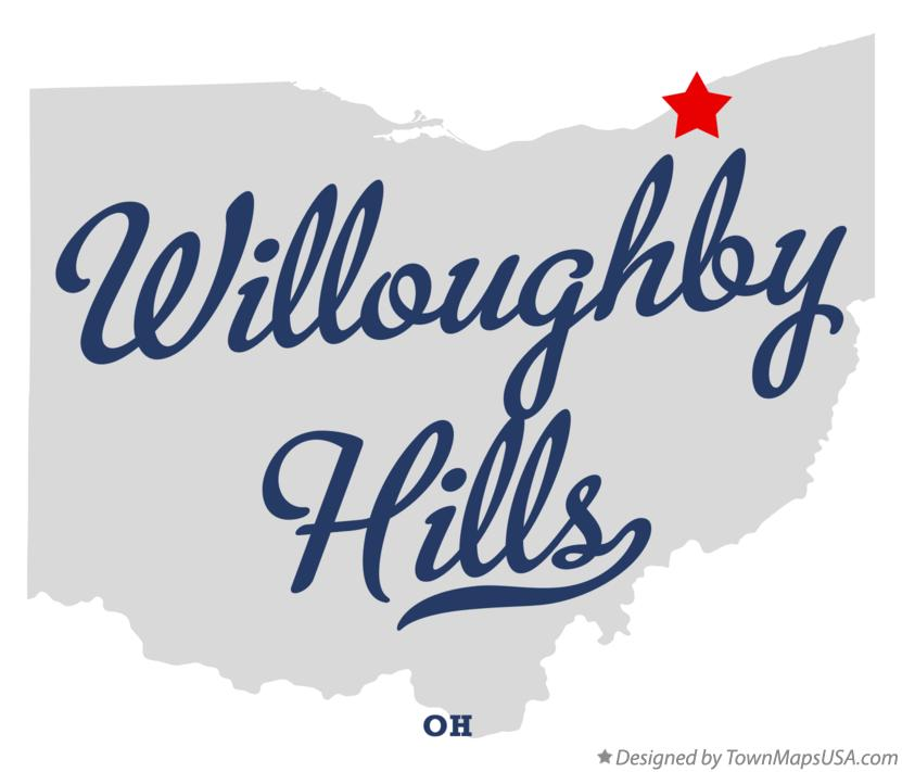 Map of Willoughby Hills Ohio OH