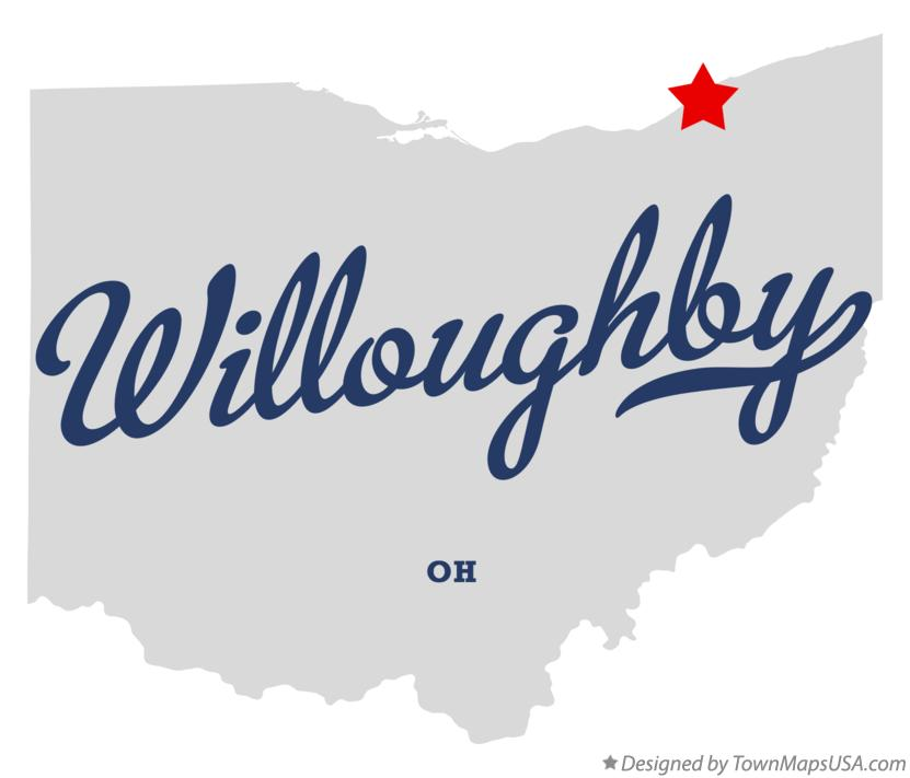 Map of Willoughby Ohio OH