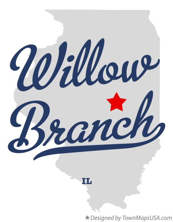 Map of Willow Branch Illinois IL