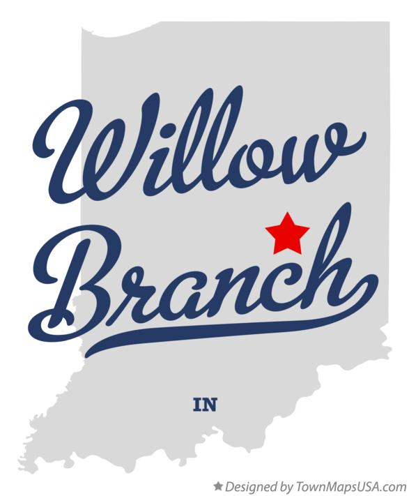 Map of Willow Branch Indiana IN