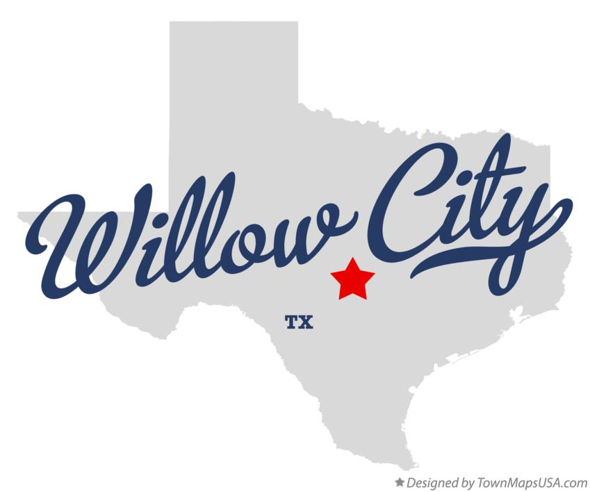 Map of Willow City Texas TX