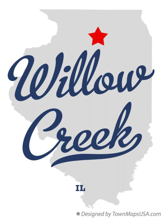 Map of Willow Creek Illinois IL