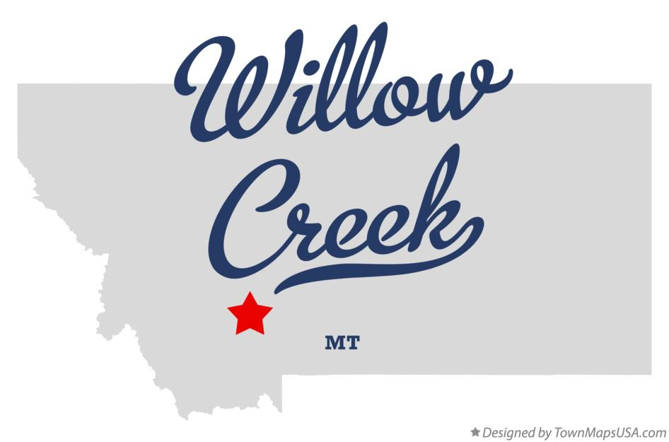 Map of Willow Creek Montana MT