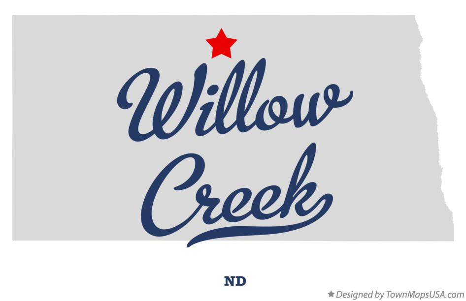 Map of Willow Creek North Dakota ND