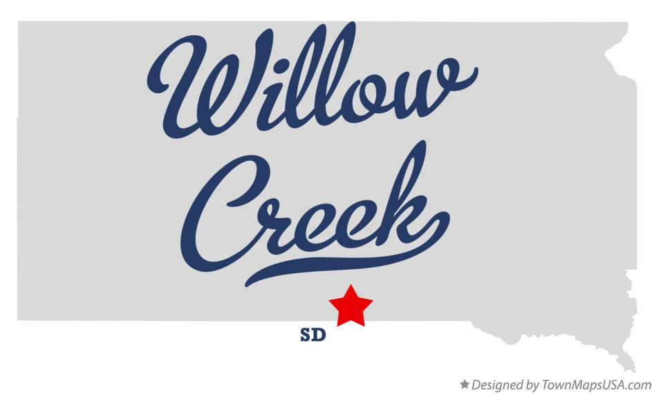 Map of Willow Creek South Dakota SD