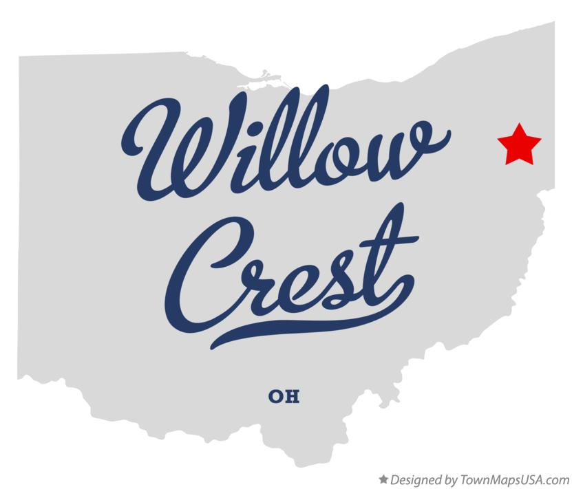 Map of Willow Crest Ohio OH