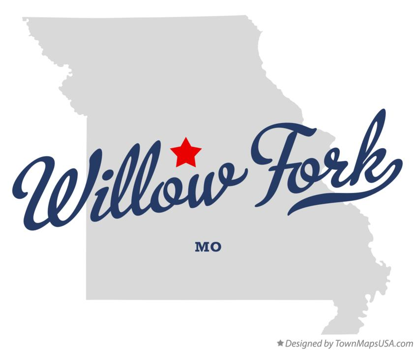 Map of Willow Fork Missouri MO