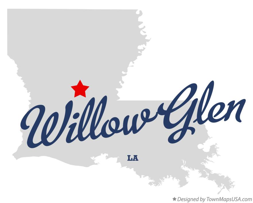 Map of Willow Glen Louisiana LA