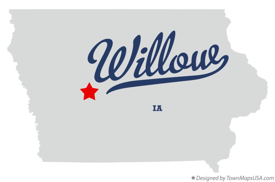 Map of Willow Iowa IA