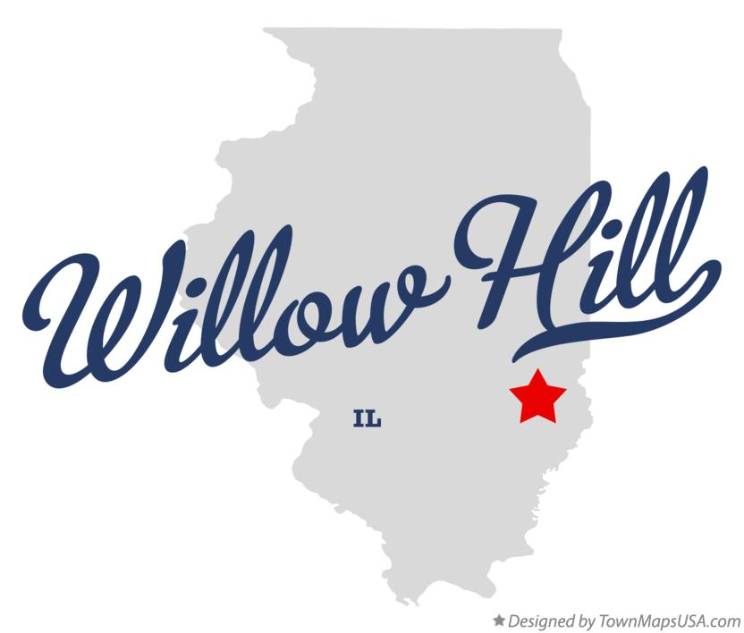 Map of Willow Hill Illinois IL