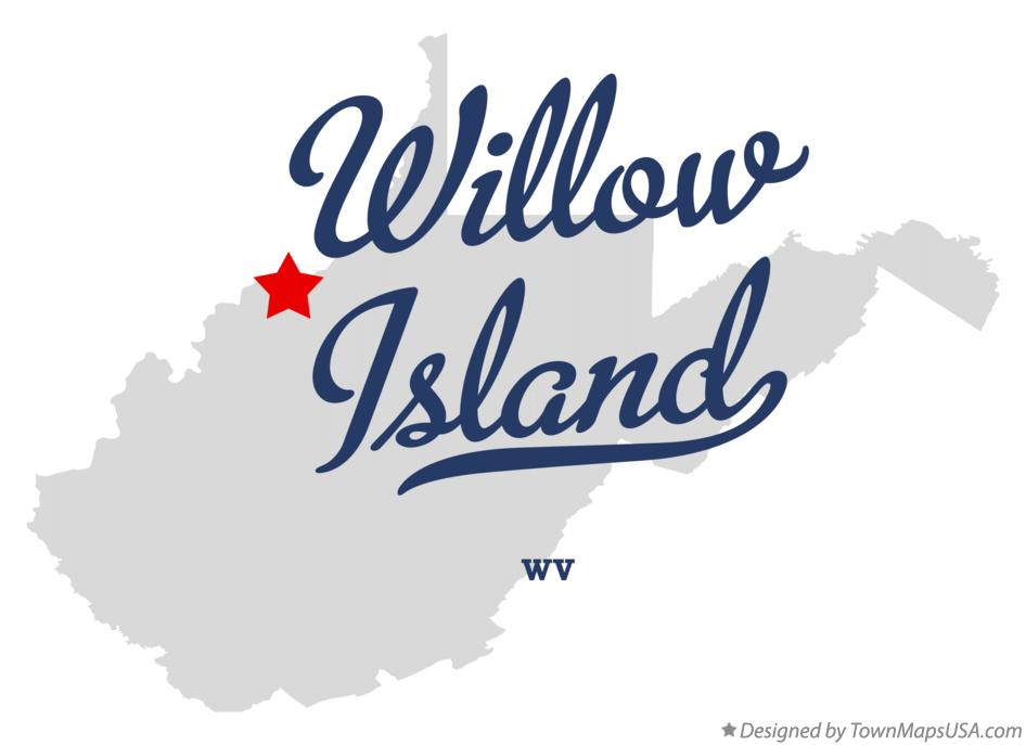 Map of Willow Island West Virginia WV