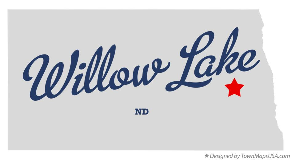 Map of Willow Lake North Dakota ND