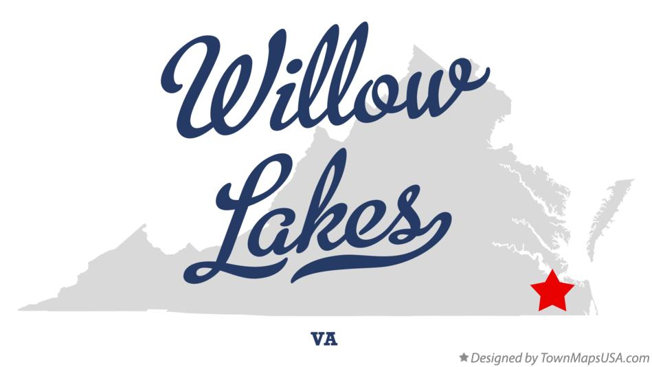 Map of Willow Lakes Virginia VA