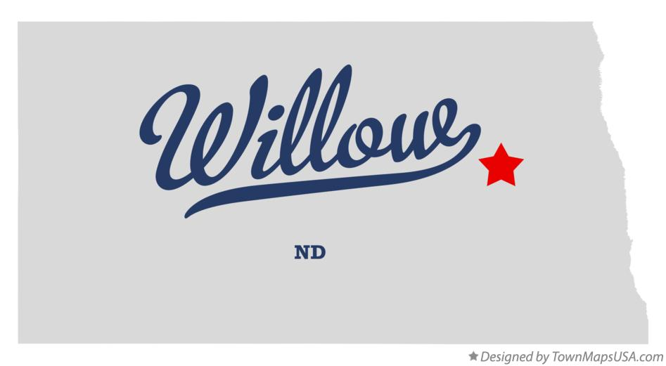 Map of Willow North Dakota ND