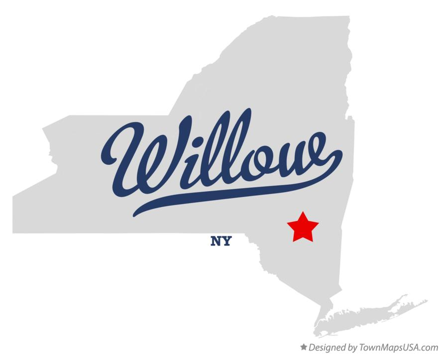 Map of Willow New York NY
